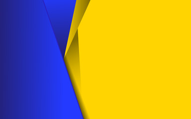 Abstract background with contrast color blue and yellow composition. Overlaping layer concept. Modern and trendy vector design template for use element poster, flyer, sale banner, advertising