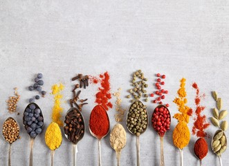 Wall Mural - Spices.