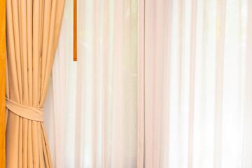 Beautiful curtain window decoration interior