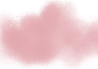 Water color, pink, white background, used as a background in the wedding and other tasks.