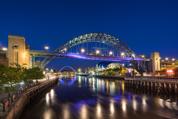 The quayside on the river Tyne in Newcastle Upon Tyne