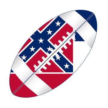 Mississippi State USA Football Flag