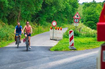 Radfahrer in der Eifel