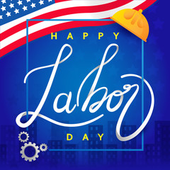 Labor day in America background design vector template graphic or banners  illustrations