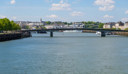The Loire River in Nantes, France