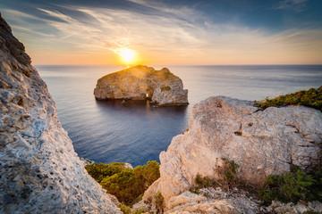 Foradada Island in Sardinia, Italy.