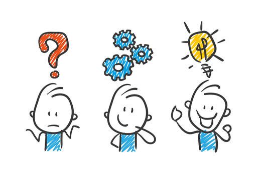 Stickman Blue: Business, Idea, Success. (Nr. 29)