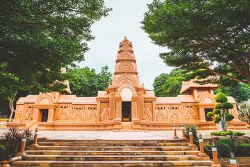 Beautifully architecture at Wat Tham Phu WA, Kanchanaburi, Thailand