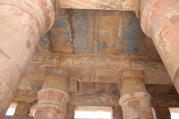 Pillars of the Great Hypostyle Hall from the Precinct of Amun-Re at karnak temple, egypt