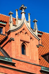 tile roof of old house