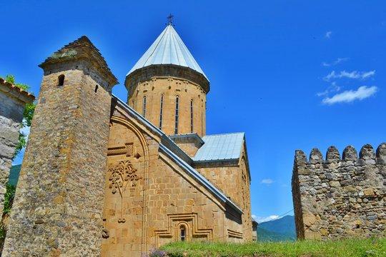 Ananuri, castle complex on the Aragvi River in Georgia.