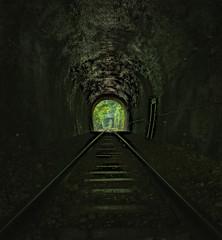 京都 新緑 空撮 トンネル 保津峡 保津川 桂川 線路 列車 写真素材