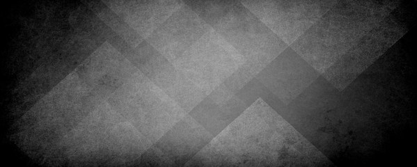 Wall Mural - abstract black and white background with geometric pattern of triangle layers and block shapes