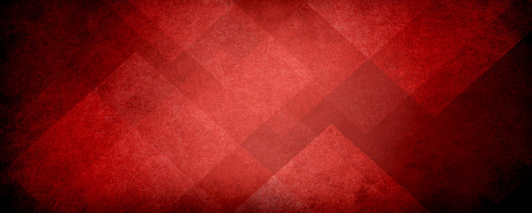 Wall Mural - abstract red background with black grunge borders, triangle shapes in red transparent layers with angles and geometric pattern design in elegant modern background layout
