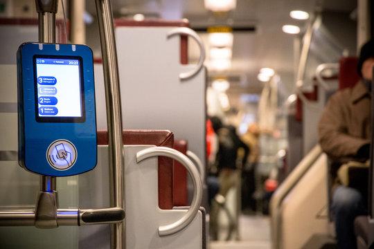 Digital ticket validator machine