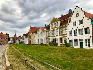Alte Häuser in der Altstadt von Glückstadt (Schleswig-Holstein)