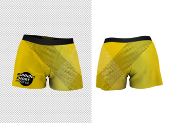 Running Shorts Mockup Front and Back