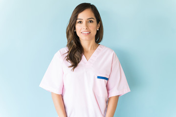 Confident Healthcare Worker In Studio