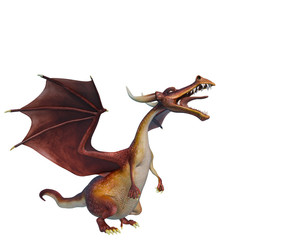 dragon cartoon is angry