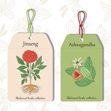 Jinseng i Ashwagandha