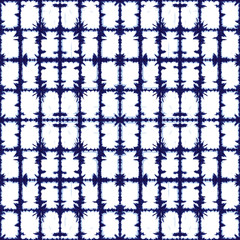 Vector blue rectangles grid abstract pattern. Suitable for textile, gift wrap and wallpaper.