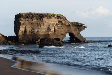 Puerto Egas (Egas Port) on Santiago Island, Galapagos Island, Ecuador, South America.