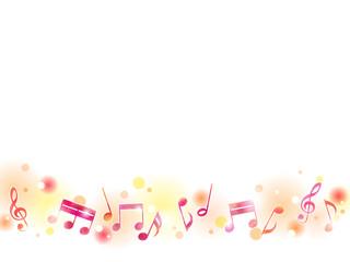 秋色の音符のイラストの背景素材