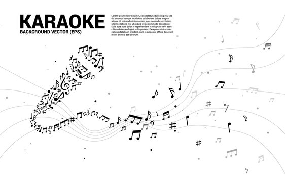Sound wave microphone icon from music note melody dancing. karaoke and concert graphic visual style concept