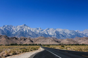 View of Mount Whitney from the Death Valley Road, California, USA