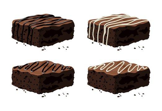 vector chocolate brownies