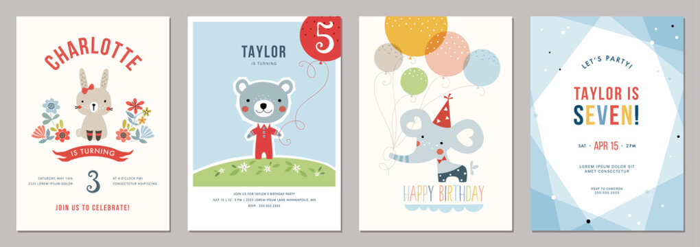 Kids birthday party invitations.