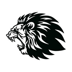 Fototapeta Lion Roaring Head Logo Vector Icon Design