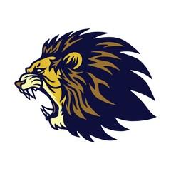Fototapeta Lion Roaring Logo Vector Esport Mascot Design