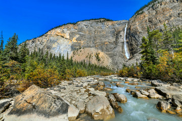Wall Mural - Takakkaw falls is the second highest waterfall in Western Canada, Yoho National Park,British Columbia.