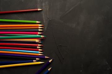 Close-up of bright sharpened pencils