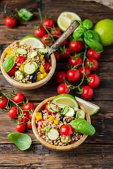 Vegan pearl barley salad