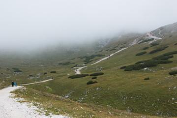 The trail to the Fischerhütte on the Schneeberg