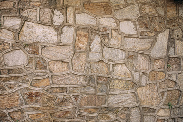 Medieval french stone building wall