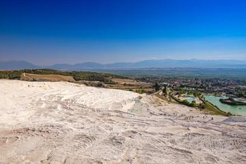 View of travertine terraces