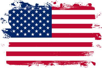 Malowana flaga USA