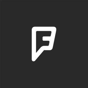 foursquare icon. Filled foursquare icon for website design and mobile, app development. foursquare icon from filled social collection isolated on black background.