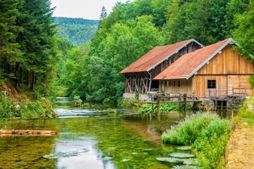 Alte Mühle im französichen Jura