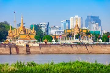 Phnom Penh city skyline, Cambodia Fototapete