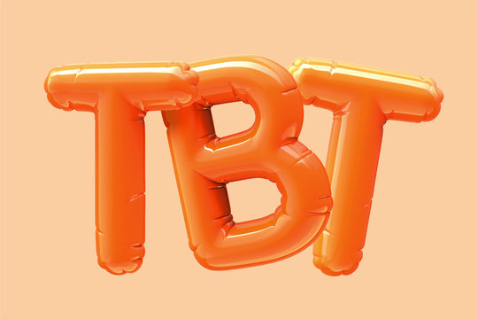TBT orange foil balloon