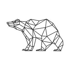 Bear geometric line art design