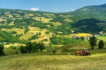 Landscape of Passo del Pelizzone from Morfasso, Piacenza