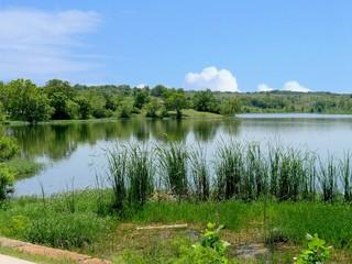 Scenic view of Lake Veteran on a beautiful day at Sulphur, Oklahoma