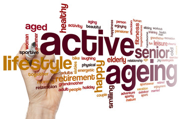 Active ageing word cloud