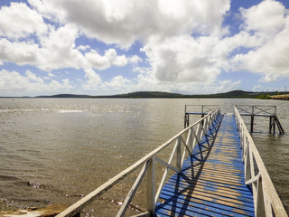 Pier on the Santa Cruz Canal in Itapissuma - Pernambuco, Brazil
