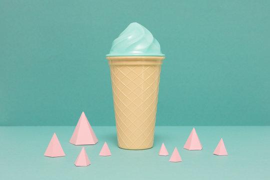 Ice cream and cones